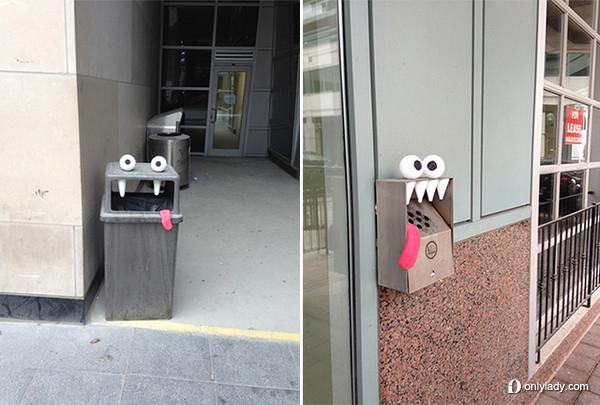 加拿大多伦多 幽默的街头艺术萌呆你双眼 图