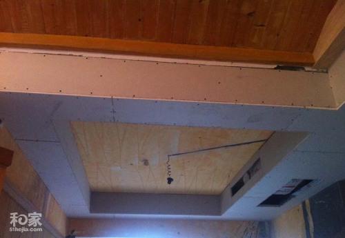 补拍木工的吊顶照片餐厅的回字形吊顶