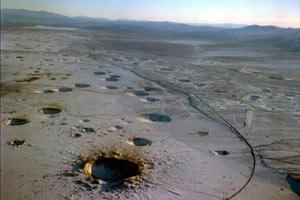 美核试验沙漠高清大图曝光 好像月球表面
