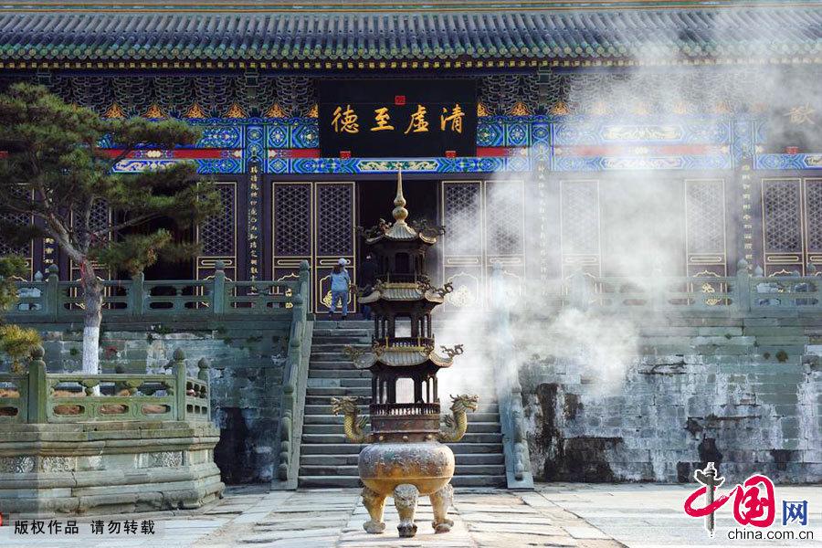 湖北十堰,武当山玉虚宫景区。中国网图片库 何东平/摄