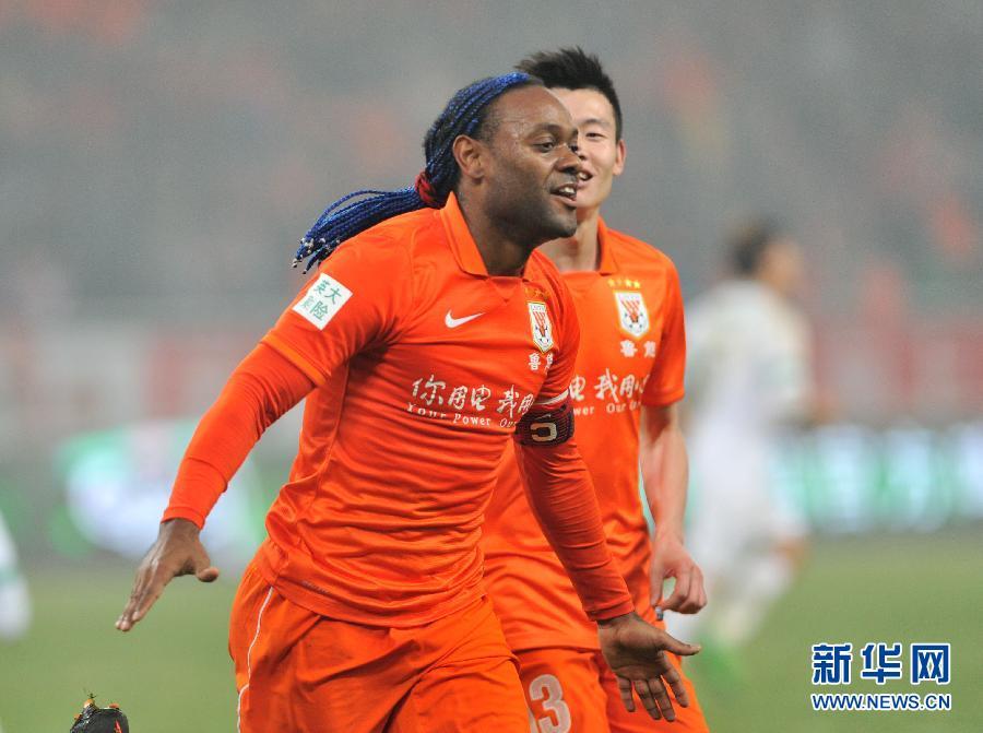中超:山东鲁能击败杭州绿城