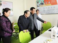蒋正华视察全国老年健康智能管理平台项目[组图]