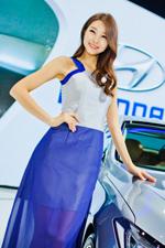 2014國際車展現代展臺模特[組圖]