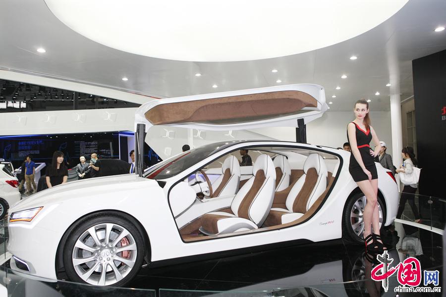 4月22日的北京国际车展上,北汽Concept 900概念车正式发布.中国高清图片