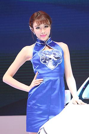 比亚迪车模清新亮丽森女范[组图]