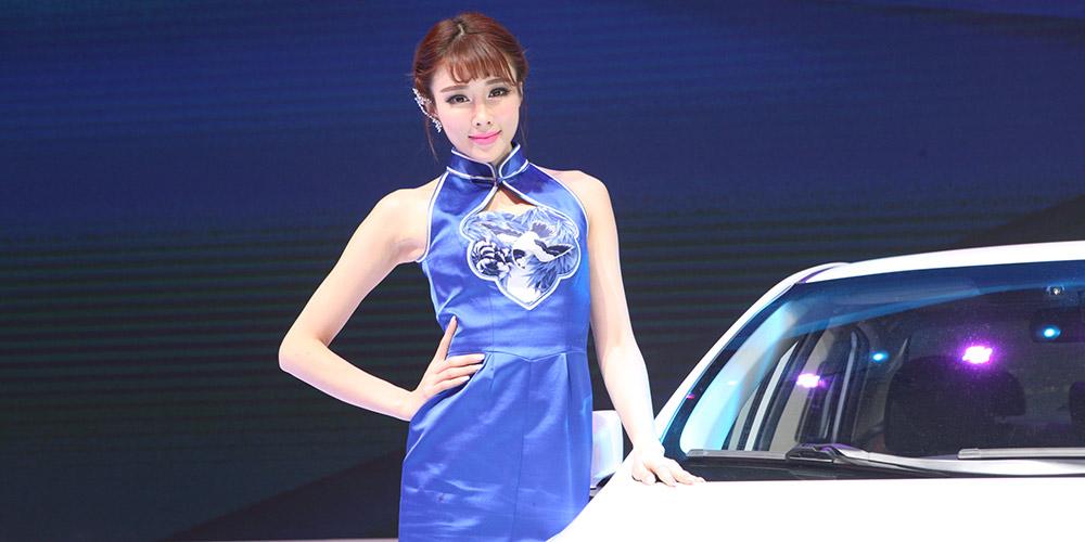 比亞迪車模清新亮麗森女范[組圖]