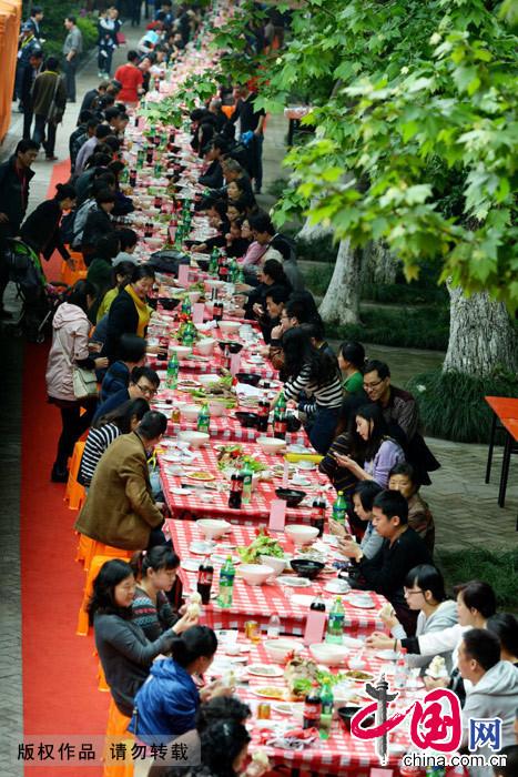 杭州,美食节,全牛宴流水席,京杭,美食街,开席