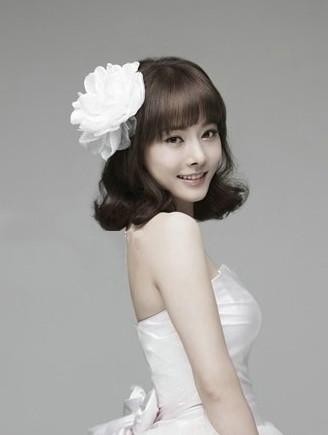 多款韩式短发新娘发型推荐