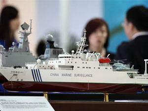 中国海监船等各式航模亮相北京科博会