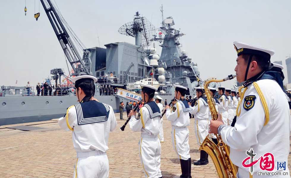 中方为俄海军举行了盛大的欢送仪式