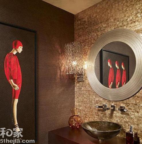 闷骚文艺范十足 个性卫浴空间设计