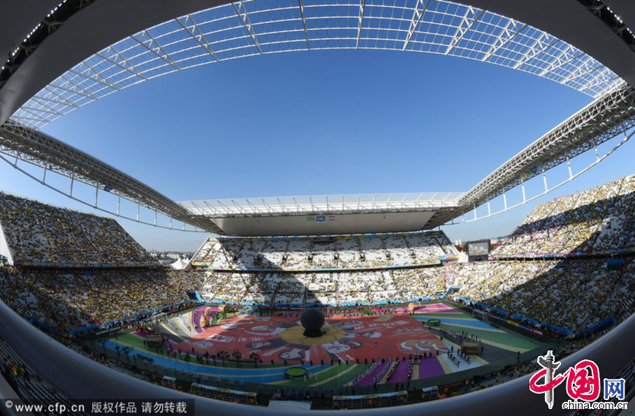 中國網訊 北京時間6月13日淩晨2點,2014世界盃在巴西聖保羅隆重開幕。