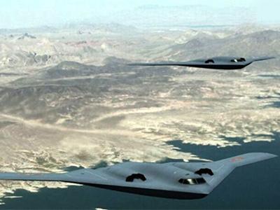 網友作品:中國空軍未來隱身轟炸機超酷方案