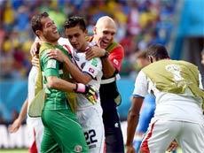 義大利隊0:1哥斯大黎加