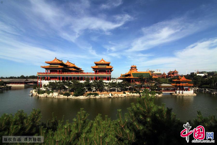 山东蓬莱三仙山景区