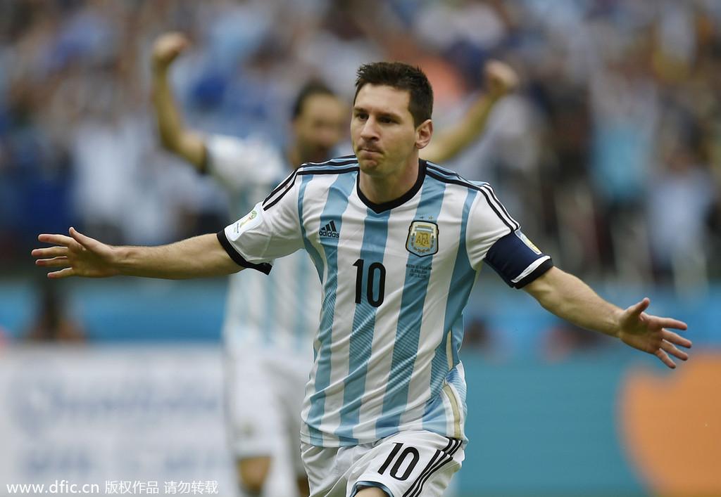 世界杯十佳图 梅西 独舞 助阿根廷晋级