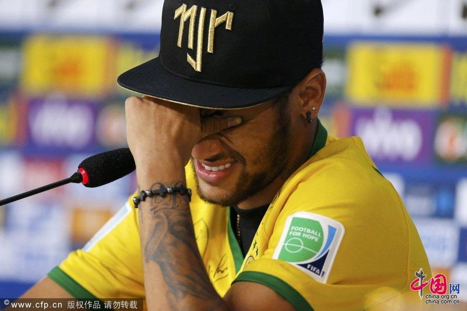 2014巴西世界盃第29日:內馬爾出席發佈會 談受傷情緒失控抹眼淚[組圖]