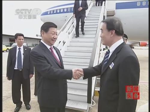 抵达巴西 出席金砖国家领导人第六次会晤图片