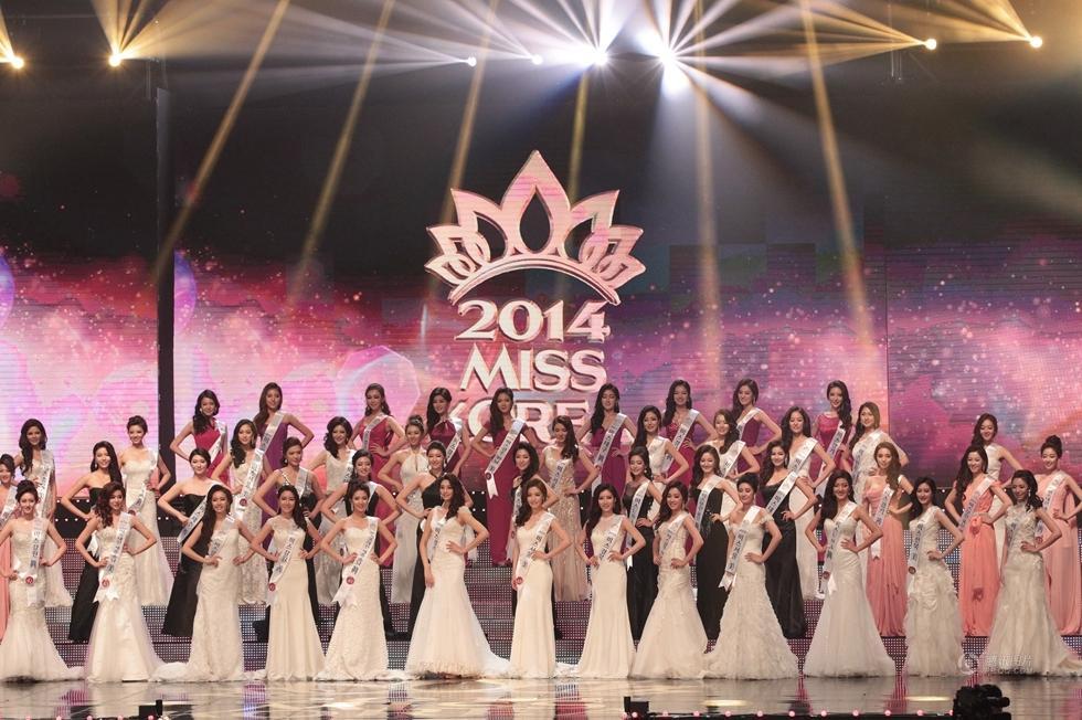 乌贼刘被爆整容之盘点2014年韩国小姐选美比赛图片