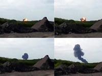 马航MH17客机被击落瞬间画面曝光 火光冲天[组图]