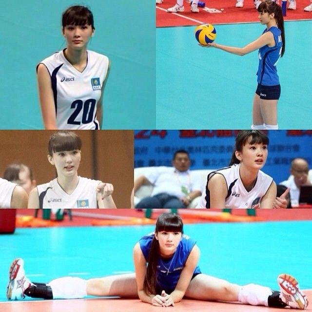 萝莉脸 120cm大长腿!哈萨克17岁排球美女爆红