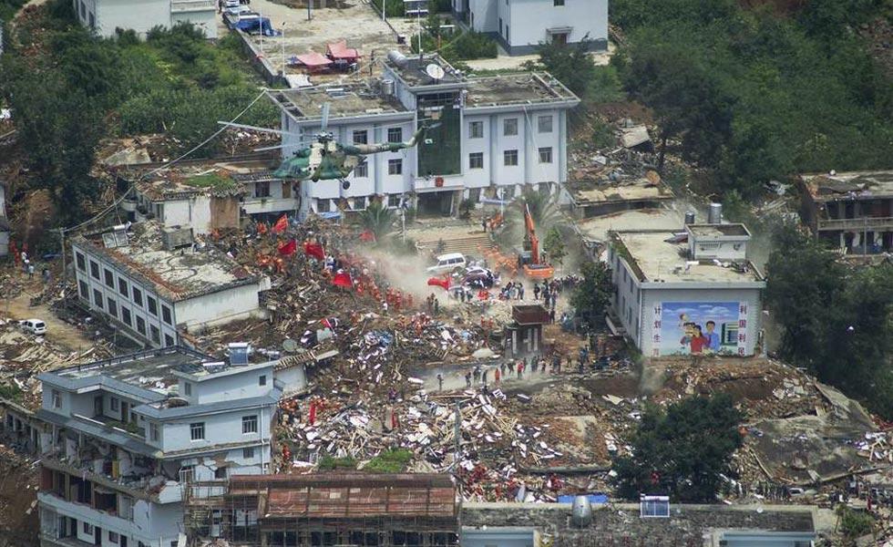 鲁甸地震灾区直击 俯览灾区