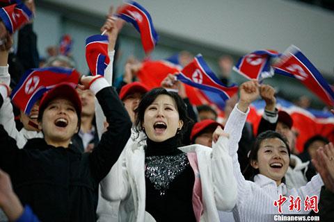 朝鲜美女啦啦队