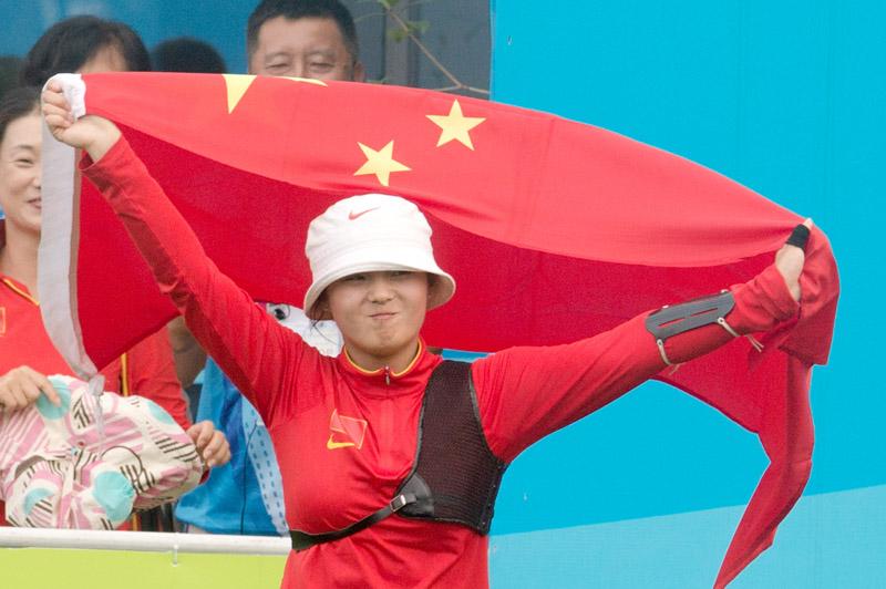 李佳蔓斗牛青奥射箭比赛金牌反曲弓女子个人中国有摘得么图片