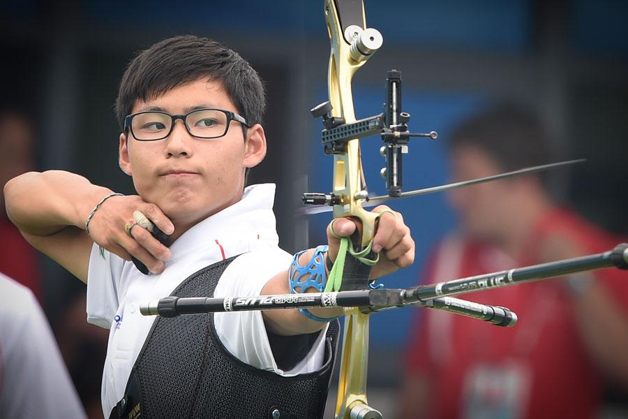 比赛:个人反曲弓纪录射箭举行舟山男子夺金[组韩国二中田径选手图片