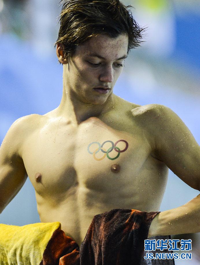 图为8月24日,在2014南京青奥会现代五项男子个人赛中,乌克高清图片