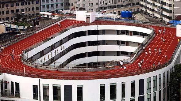 浙江一小学建成中国首个空中操场