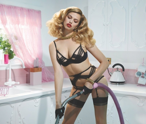 美国超模性感内衣广告大片
