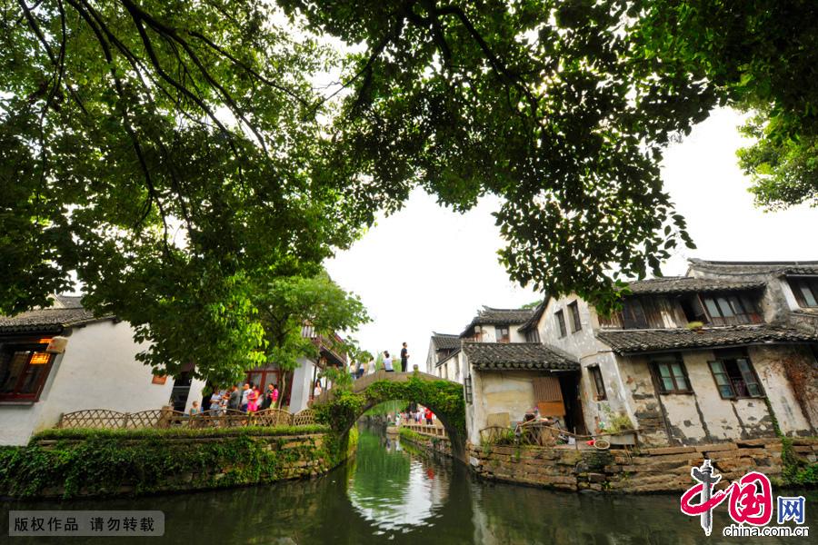 中国第一水乡周庄。中国网图片库 刘少敏/摄