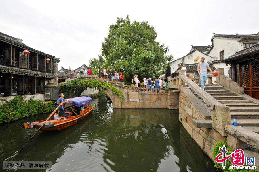 """水乡周庄""""双桥""""近景。中国网图片库 刘少敏/摄"""