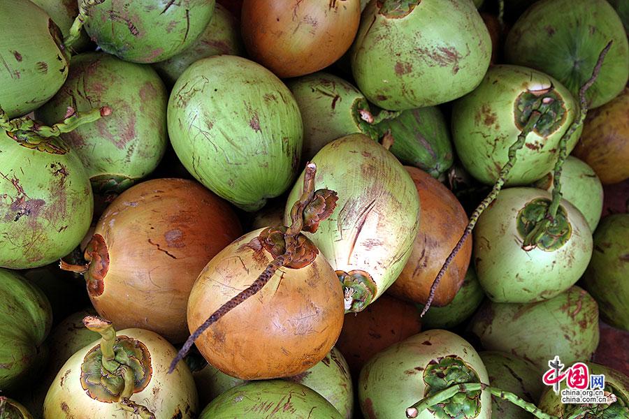 市场里的椰子