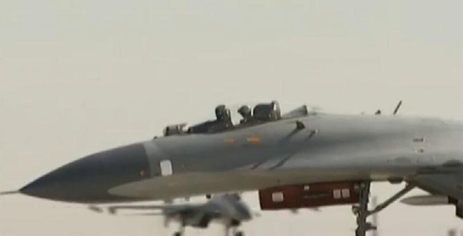 中國空軍出動近百戰機展開史上最大空戰對抗
