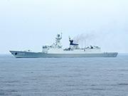 兩岸軍艦在釣魚島聯合營救漁民