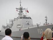 中國海軍神盾艦首次抵達伊朗訪問