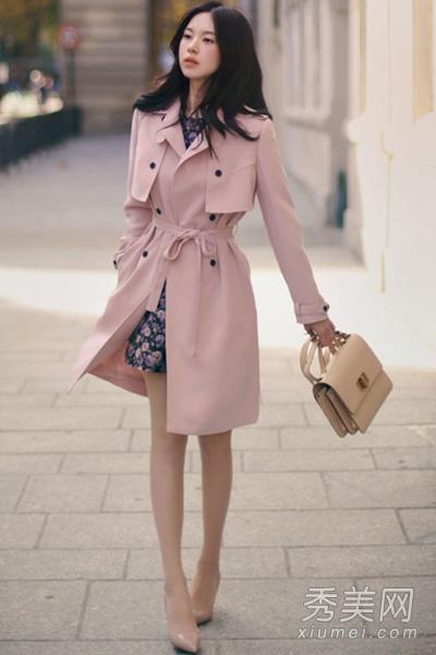 粉色风衣内搭
