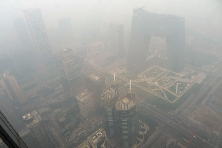 中国多地现雾霾气候