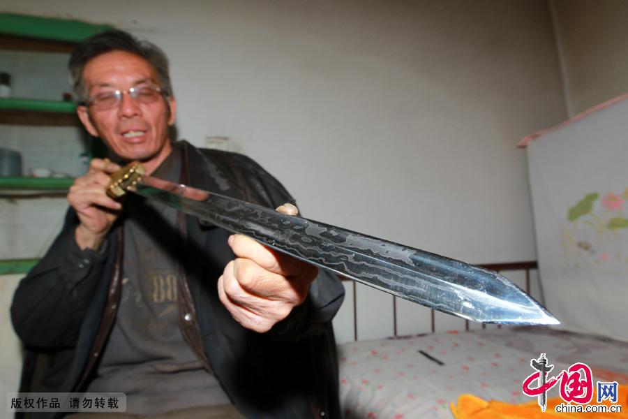 草原铁匠 铸剑 新疆 哈密 铁匠 刀具 锻造 技术
