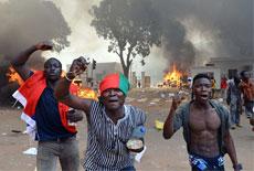 西非地区布基纳法索爆发大规模示威