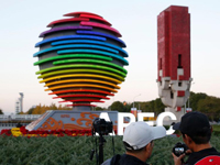 APEC景观成北京新景点 引市民拍照[组图]