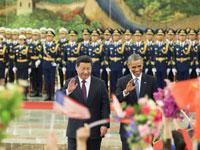 习近平为美国总统奥巴马举行欢迎仪式[组图]