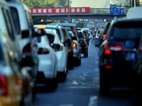 APEC假期结束 北京早高峰道路拥堵[组图]