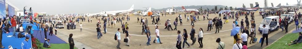 2014珠海航展全景图
