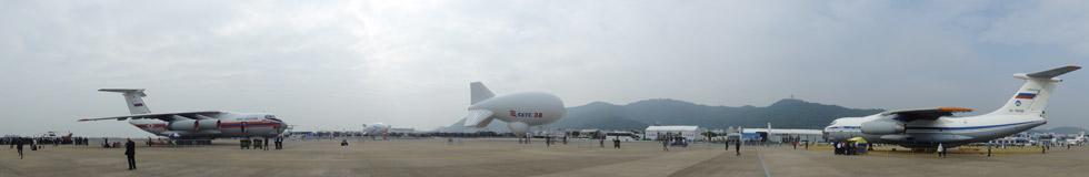 2014珠海航展:2架伊尔76运输机