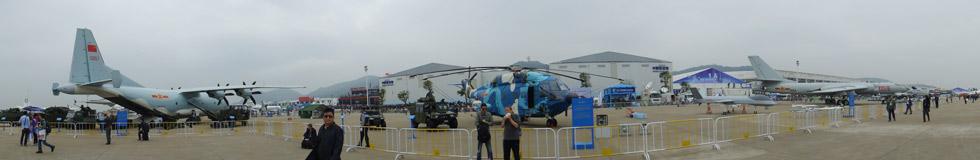 2014珠海航展:中国空军展示区