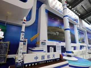 """2014珠海航展:可移动发射""""飞天""""火箭亮相[组图]"""