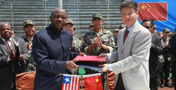 中國人民解放軍醫療隊抵達賴比瑞亞